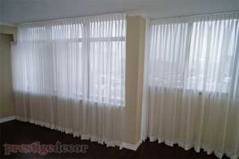 Elegant condo window treatments in a condo in Toronto