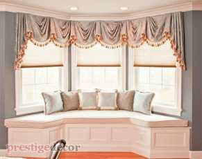 Light pink Bay Window Seat Cushions