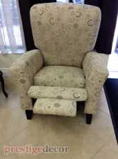 Recliner chair upholstery
